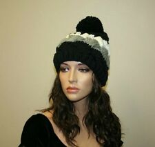 Womens Knitted Hat, Knitted Hat With Pompom, Winter Accessories