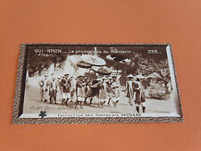 CHROMO PHOTO CHOCOLAT SUCHARD 1930 COLONIES INDOCHINE ANNAM QUI-NHON MANDARIN