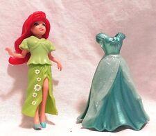 Disney Princess Ariel Magiclip Doll and 2 Dresses Mattel EUC