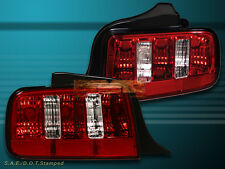 05-09 FORD MUSTANG EURO RED CLEAR TAIL LIGHTS 2010 STYLE NEW