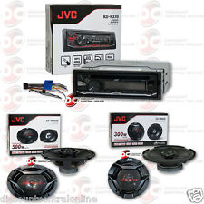 """PACKAGE JVC KD-R370 1DIN CAR AUDIO CD AUX STEREO + 2 x 6.5"""" & 6x9"""" CAR SPEAKERS"""
