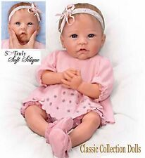 Ashton Drake CLAIRE-TRUE TOUCH™SILICONE-HAND ROOTED HAIR-LIFELIKE BABY DOLL-NEW