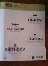 Stampin' Up! (Retired) SEE YA LATER! (wood mount) Love Birthday Cloud Alligator
