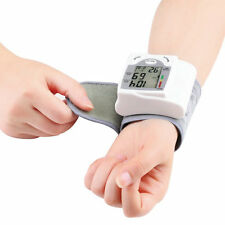 Digital LCD Wrist Blood Pressure Monitor Heart Beat Rate Pulse Meter Measure#X8