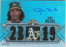 2012 Topps Triple Threads #112 Jemile Weeks RC Auto Jersey #/99