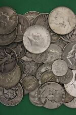 Make Offer 2 Troy Pounds 90% Silver U.S. Junk Coins 8 Halves Included