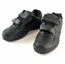 Black Walking Cross Trainer Athletic Leather Shoe MEN'S Size 11.5
