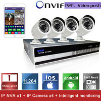 4CH Digital Wireless CCTV DVR+Outdoor Wifi 720P P2P Camera Recorder NVR System