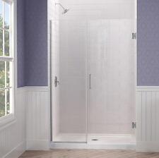 """UNIDOOR PLUS Shower Door 37"""",38"""",39"""",40"""",41"""",42"""".43"""",44"""",45""""x72"""" Chrome Finish"""