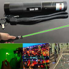 Green Laser Pointer Adjustable Focus 1mw Pen 532nm Burning Beam Light Lazer DISU