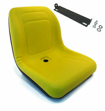 New Yellow HIGH BACK SEAT w/ Pivot Rod Bracket for John Deere LX178 LX186 LX188