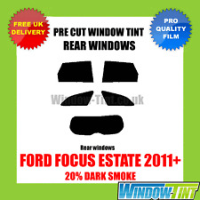 FORD FOCUS ESTATE 2011+ 20% DARK REAR PRE CUT WINDOW TINT