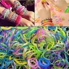600pcs DIY Multicolor Sequins Refill Rubber Band DIY Kids Crafts Making Bracelet