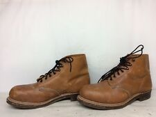 VTG MEN SAFETY  RED WING STEEL TOE WORK  BROWN BOOTS SIZE 8.5 E
