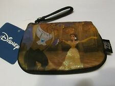 Disney Beauty & Beast Belle Ball Room Dance Cluch Coin Purse with Snap Section