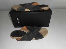 NWB $225 VINCE BROWN  LEATHER  SUEDE MEN'S  SANDALS  SIZE 11 M MADE IN SPAIN