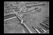 Sydney PYRMONT BRIDGE circa 1930s aerial view modern digital Photo Postcard