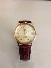 Omega DeVille Quartz Dress Box Gold Plated Watch
