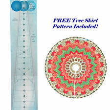 "24"" 10 Degree Circle Wedge Ruler, Makes a 50 Inch Circle, by Phillips Fiber Arts"