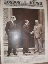 Photo article Winston Churchill Anthony Eden Pierre mendes-France Chartwell 1954