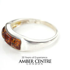 Unique Baltic Amber Ring set in 925 Sterling Silver WR313 RRP20!