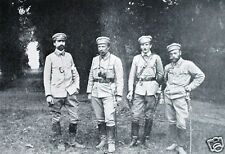 Polish Army Major Leon Berbecki & Officers World War 1 6x4 Inch Reprint Photo 1