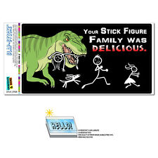 Your Stick Figure Family Delicious T-Rex Dinosaur - SLAP-STICKZ™ Bumper Sticker