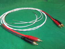 3 FT SILVER PLATED HIGH CONDUCTIVITY AUDIOPHILE TURNTABLE RCA AUDIO CABLE.