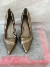 Newlook ladies bronze,gold,glitter high heels size 7 worn once