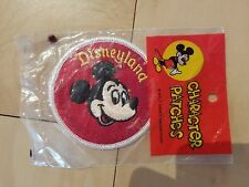 Vintage Red Disneyland Character Patch Mickey Mouse