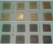 R80186 R80C186 INTEL AMD Ceramic Gold cap Chip old Vintage IC CPU LCC 1982