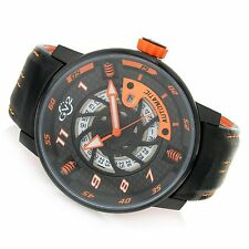 GV2 by Gevril 48mm Motorcycle Limited Edition Swiss Made Automatic Leather Strap