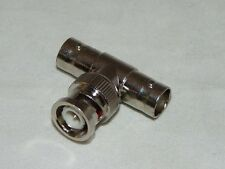 """10PK BNC """"T"""" Adaptor One Male To Double Female"""