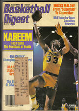 1985 (May) Basketball Digest magazine, Kareem Abdul-Jabbar ~ Los Angeles Lakers