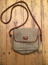 Vintage Tula By Radley Hessian & Leather Bag