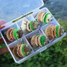 Fishing Top Water Artificial Mouse Fishing Lure Saltwater Fishing Baits 6pcs/box