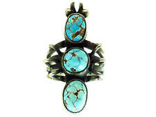 Calvin Martinez, Ring, Persian Turquoise, Ant Design, Silver, Navajo, 7