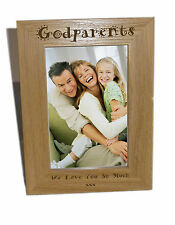 Godparents Wooden Photo Frame 5x7- Personalise This Frame - Free Engraving