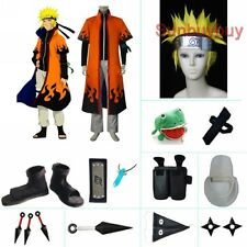 Naruto Uzumaki 6th Hokage Halloween Cosplay Costume Naruto set with wig