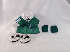 Ty Gear Beanie Kids 4 pc set Soccer OUtfit Jersey Shoes Knee Pads VGC CUTE