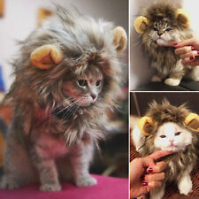 Furry Pet Costume Lion Mane Wig Cat Halloween Dress Up With Ears Party