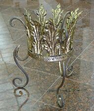 VINTAGE 50's GILDED TOLE ITALIAN PLANTER PLANT STAND : ESTATE of JACKIE GLEASON
