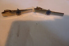 set of 2 AIR FORCE E-8 Tie Clip USAF First 1st Sergeant Rank FSgt Tie Bar Clasp