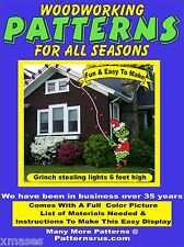 GRINCH STEALING LIGHTS CHRISTMAS YARD ART PATTERN WOOD WORKING patternsrus.com