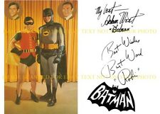BATMAN AND ROBIN CAST AUTOGRAPHED 6x9 RP PROMO PHOTO BURT WARD AND ADAM WEST