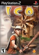 Ico  (Sony PlayStation 2, 2001)   Rated T for Teen,  Blue disc.