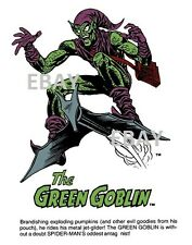Vintage Marvel Style Guide Print - Amazing Spider-Man GREEN GOBLIN