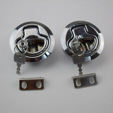 2PCS  Flush Pull Hatch Latch Marine Boat bright chrome plated PA-6