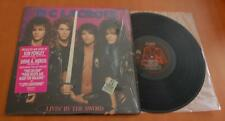 D C Lacroix - Livin' By The Sword - 1988 US Vinyl LP - Opened Shrink