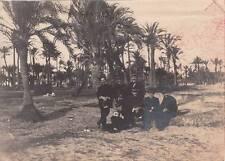 8973) WW ITALO TURCA 12/12/1911, GRUPPO UFFICIALI DI MARINA NELL'OASI DI BENGASI